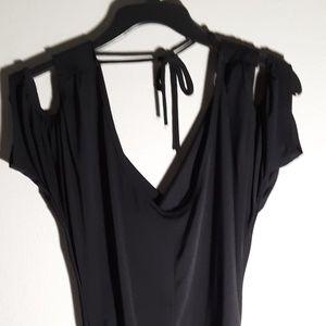 Womans black dress blouse